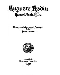 Cover of Auguste Rodin