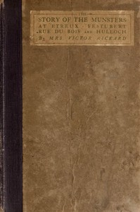 Cover of The Story of the Munsters at Etreux, Festubert, Rue du Bois and Hulloch