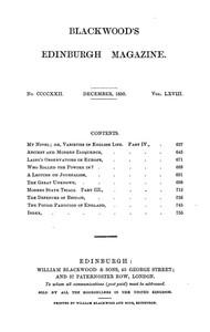 Blackwood's Edinburgh Magazine, Vol. 68, No 422, December 1850