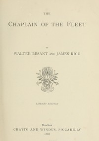 Cover of The Chaplain of the Fleet