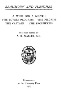 Beaumont and Fletcher's Works, Vol. 05 of 10