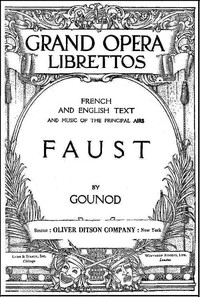 Cover of Faust: A Lyric Drama in Five Acts