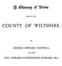 Cover of A Glossary of Words used in the Country of Wiltshire