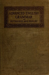 Cover of An Advanced English Grammar with Exercises