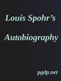 Cover of Louis Spohr's AutobiographyTranslated from the German