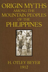 Cover of Origin Myths among the Mountain Peoples of the Philippines