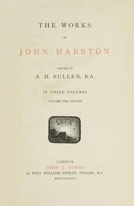 Cover of The Works of John Marston. Volume 2