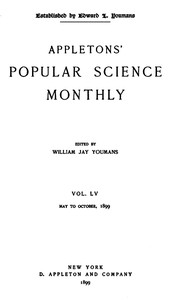 Appletons' Popular Science Monthly, September 1899Vol. LV, May to October, 1899