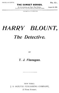 Cover of Harry Blount, the Detective; Or, The Martin Mystery Solved