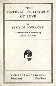 Cover of The Natural Philosophy of Love