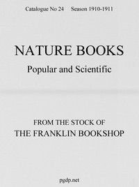 Cover of Nature Books Popular and Scientific from The Franklin Bookshop, 1910Catalogue 24, 1910-11 Season
