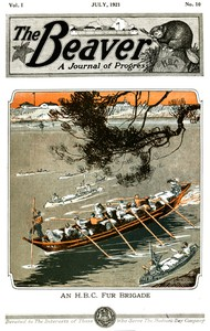 Cover of The Beaver, Vol. 1, No. 10, July, 1921