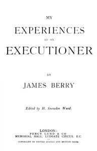 Cover of My Experiences as an Executioner