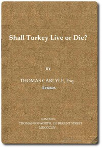 Cover of Shall Turkey Live or Die?