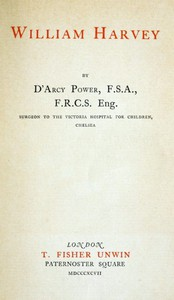 Cover of William Harvey