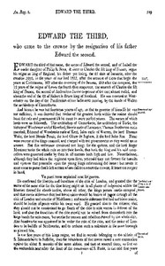 Cover of Chronicles of England, Scotland and Ireland (2 of 6): England (11 of 12) Edward the Third, Who Came to the Crowne by the Resignation of His Father Edward the Second