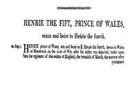Chronicles of England, Scotland and Ireland (3 of 6): England (2 of 9) Henrie the Fift, Prince of Wales, Sonne and Heire to Henrie the Fourth