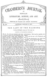 Chambers's Journal of Popular Literature, Science, and Art, No. 680 January 6, 1877