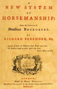 Cover of A New System of Horsemanship