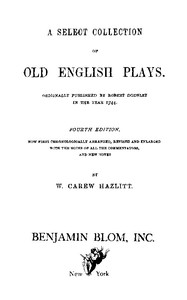 Cover of A Select Collection of Old English Plays, Volume 12