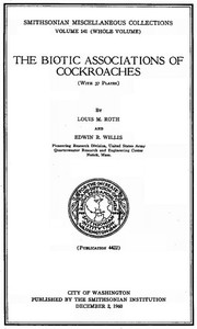 Cover of The Biotic Associations of Cockroaches