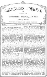 Cover of Chambers's Journal of Popular Literature, Science, and Art, No. 683 January 27, 1877