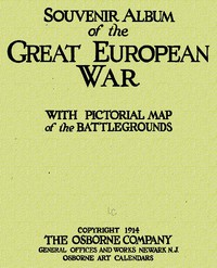 Cover of Souvenir Album of the Great European WarWith Pictorial Maps of the Battlegrounds