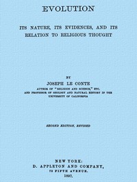 Cover of Evolution: Its nature, its evidence, and its relation to religious thought