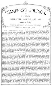 Cover of Chambers's Journal of Popular Literature, Science, and Art, No. 684 February 3, 1877