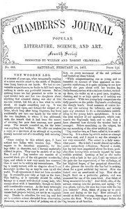 Cover of Chambers's Journal of Popular Literature, Science, and Art, No. 685 February 10, 1877