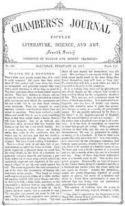 Cover of Chambers's Journal of Popular Literature, Science, and Art, No. 687 February 24, 1877