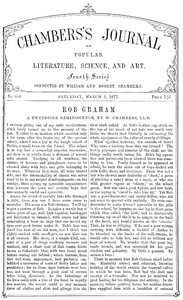 Cover of Chambers's Journal of Popular Literature, Science, and Art, No. 688 March 3, 1877