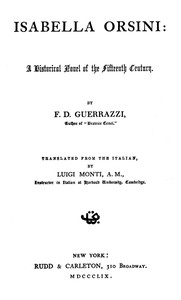 Cover of Isabella Orsini: A Historical Novel of the Fifteenth Century
