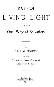 Cover of Rays of Living Light on the One Way of Salvation