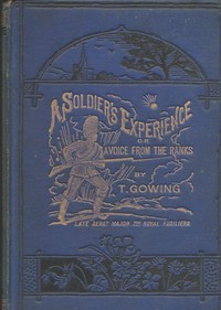 A Soldier's Experience; or, A Voice from the Ranks Showing the Cost of War in Blood and Treasure. A Personal Narrative of the Crimean Campaign, from the Standpoint of the Ranks; the Indian Mutiny, and Some of its Atrocities; the Afghan Campaigns of 1863