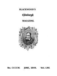 Cover of Blackwood's Edinburgh Magazine, No. 404, June, 1849