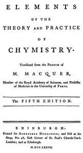 Cover of Elements of the Theory and Practice of Chymistry, 5th ed.