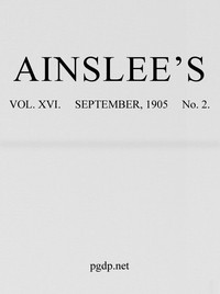 Cover of Ainslee's magazine, Volume 16, No. 2, September, 1905