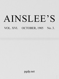 Cover of Ainslee's magazine, Volume 16, No. 3, October, 1905