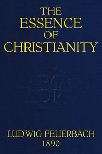 Cover of The Essence of ChristianityTranslated from the second German edition
