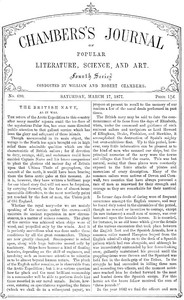 Cover of Chambers's Journal of Popular Literature, Science, and Art, No.690March 17, 1877