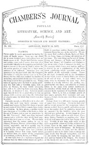 Chambers's Journal of Popular Literature, Science, and Art, No. 691March 24, 1877