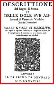 Cover of Descrittione del regno di Scotia