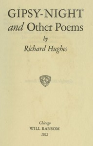Cover of Gipsy-Night, and Other Poems