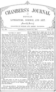 Cover of Chambers's Journal of Popular Literature, Science, and Art, No. 692March 31, 1877