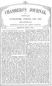 Chambers's Journal of Popular Literature, Science, and Art, No. 693April 7, 1877