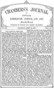 Cover of Chambers's Journal of Popular Literature, Science, and Art, No. 694April 14, 1877.