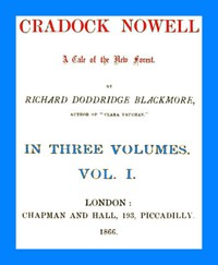 Cover of Cradock Nowell: A Tale of the New Forest. Vol. 1 (of 3)
