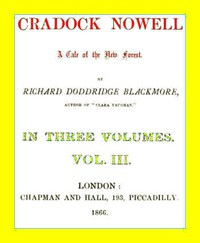Cover of Cradock Nowell: A Tale of the New Forest. Vol. 3 (of 3)