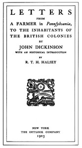Cover of Letters from a Farmer in Pennsylvania, to the Inhabitants of the British Colonies